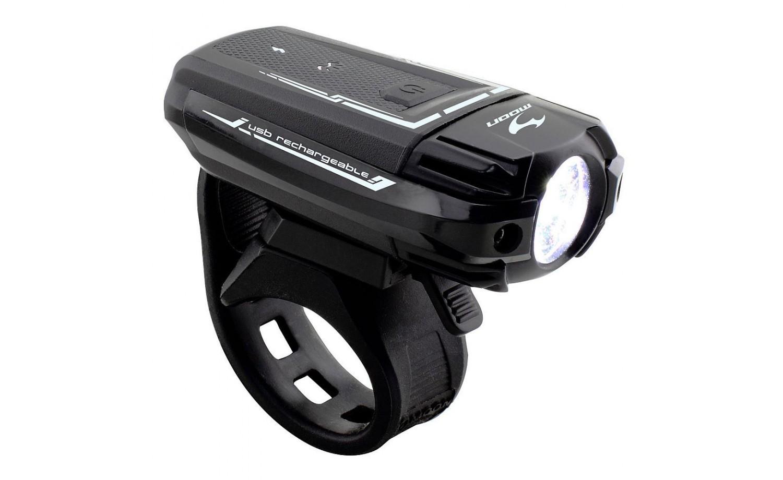 Přední světlo Moon Meteor 300 USB nabíjecí černé