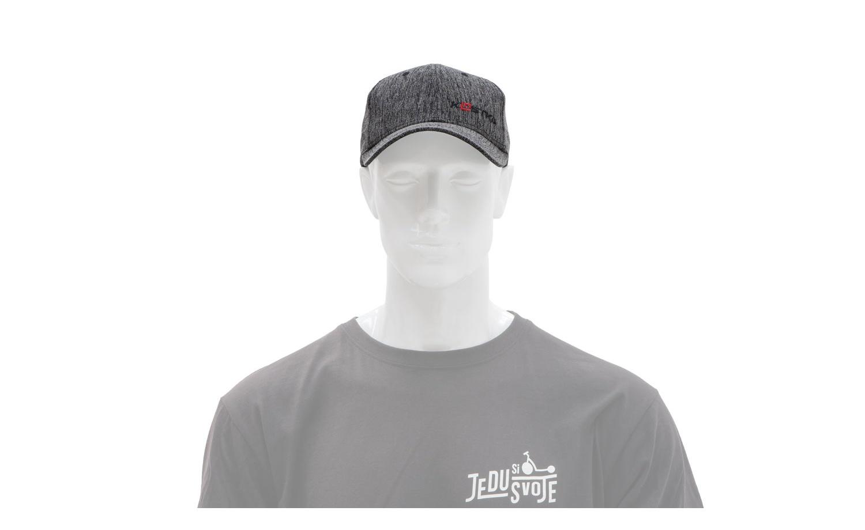 Strapback kšiltovka KOSTKA Melange černá