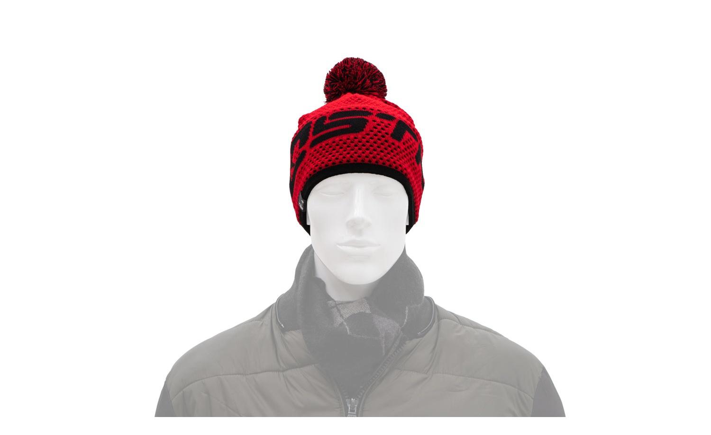 Zimní čepice KOSTKA červená