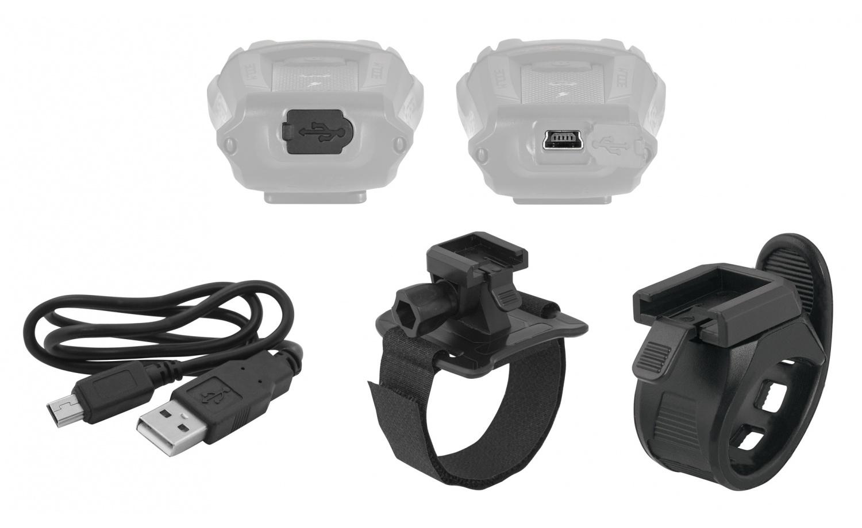 Světlo přední FORCE PAX 400LM USB